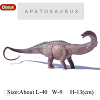 Oenux Big Size Jurassic Apatosaurus T REX Dinosaurio Action Figures Prehistoric Dinosaur World Model Toy For Kids Birthday Gift