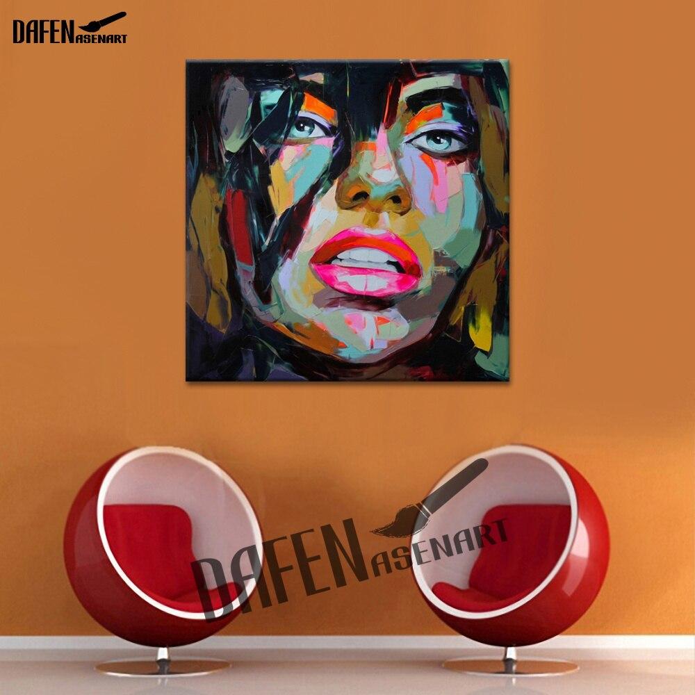 Сексуальные губы-настенное Искусство Ручная роспись на холсте для бара кафе современный поддон нож популярная фигурка высокого качества без рамки