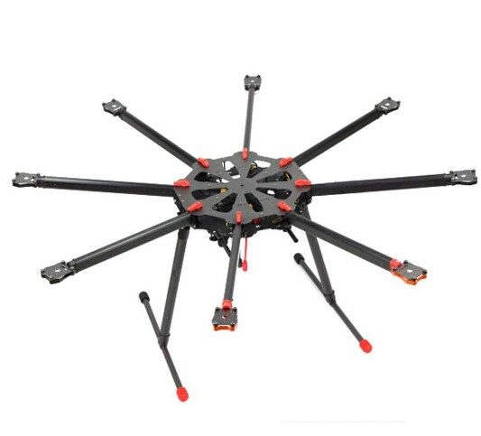 TAROT X8 ALL Carbon Fiber TL8X000 8 Axis Octocopter with Electric Retractable Landing Skids and Folding Arm for FPV Photography