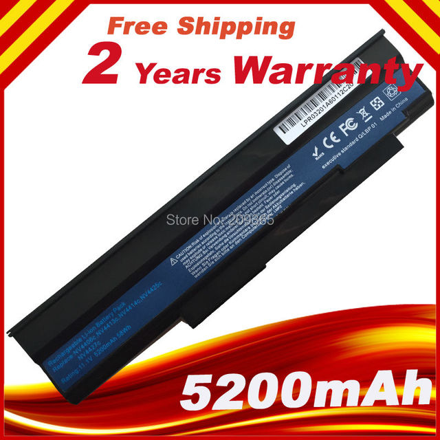 6Cell Laptop Battery for Acer Extensa 5235 5635 5635G 5635Z 5635ZG eMachines E528 E728 AS09C31 AS09C71