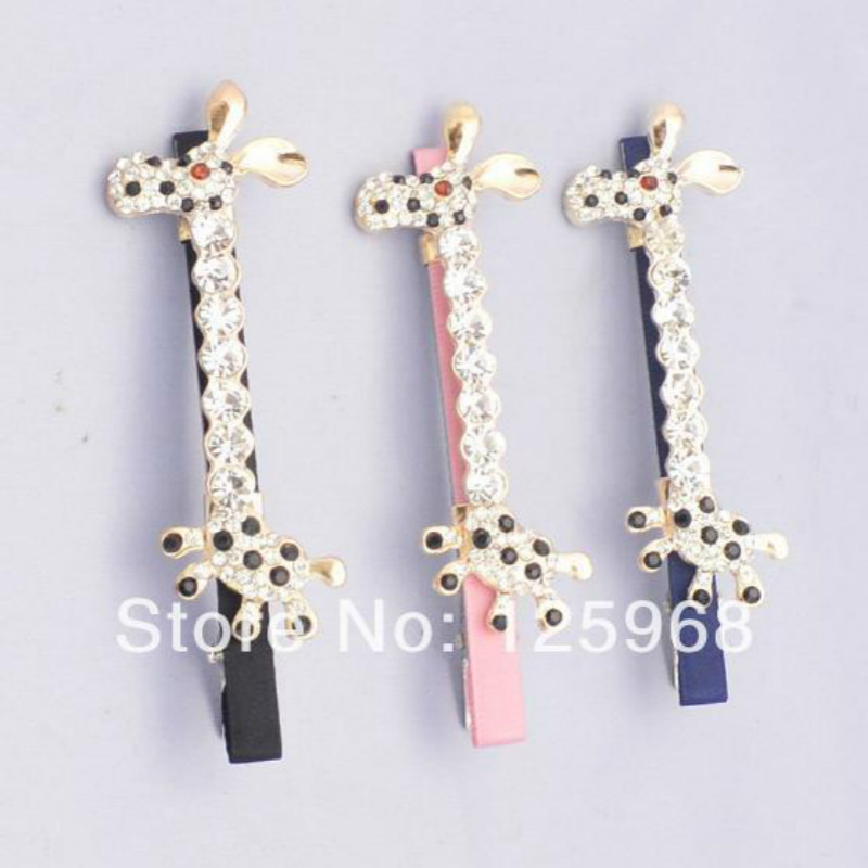 Free Shipping!New Arrive 10pcs/lot Rhinestone Hair Clips Horse Animal Hairclips For Women/Girls Bang Clip Hair Accessories