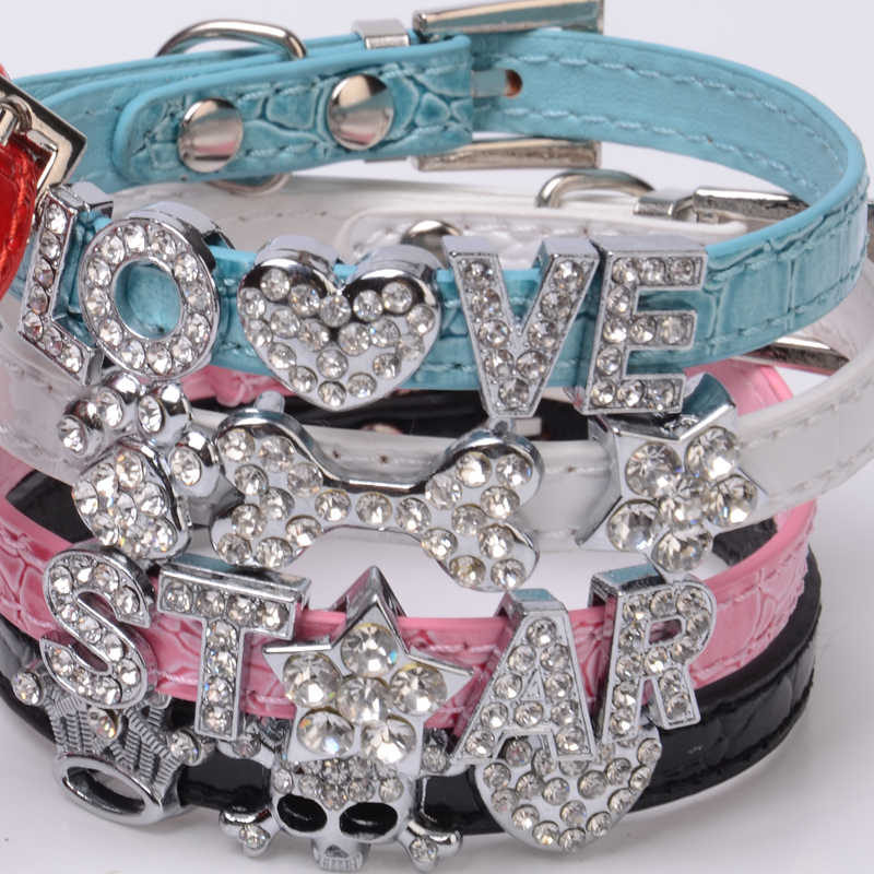 ... 100% High Quality Bling Croc PU Leather 10MM Personalized Dog Pet Puppy  Cat Collar with ... d5644988a135