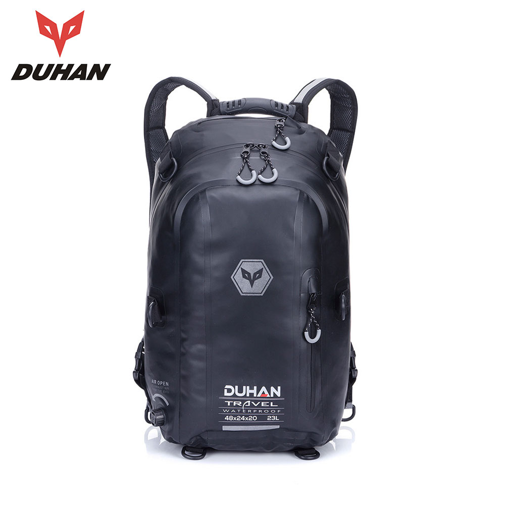 DUHAN Motorcycle Bag Black Waterproof Backpack Moto Bag Motorcycle Helmet Backpack Luggage Moto Tank  Motorcycle Racing Backpack duhan motorcycle waterproof saddle bags riding travel luggage moto racing tool tail bags black multifunction side bag 1 pair