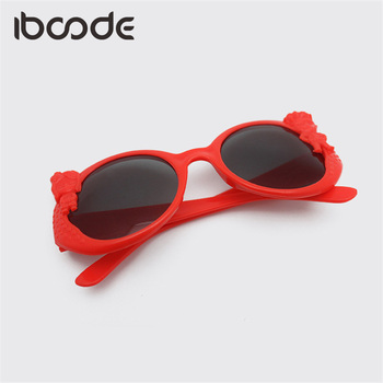 iboode Baby Rounds Cartoon Boys Girls Sunglasses Polarized Cute Children Eyeglasses Sun Glasses UV Protection Beach Summer Gafas