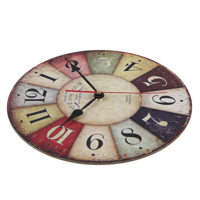 Vintage Wooden Wall Clock 6