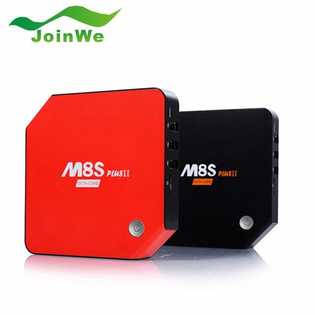 Android 6.0 TV Box M8S Plus II Set Top Box Amlogic S912 1G/8G 2G/16G 3G/32G Gigabit 2 Wifi Bluetooth 4.0 Smart TV caja