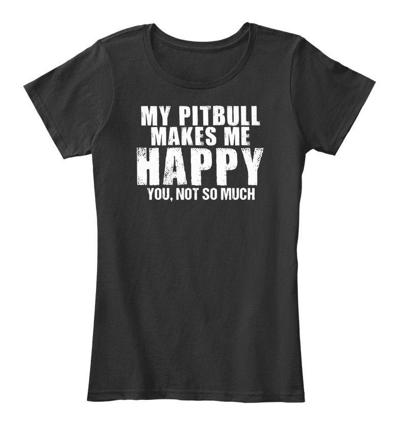 Моего питбуля-Pitbull меня радует, не так Для женщин Премиум Футболка
