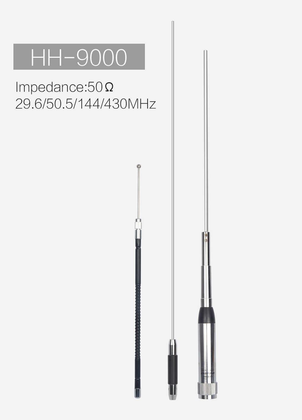 Antenne quadri-bande Radio Mobile double bande HH-9000 10 m/6 m/2 m/70 cm pour Luiton, Baofeng, BTECH Anytone TYT TH-9800 QYT KT-980