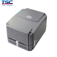 Free Shipping By EMS TSC TTP 244 Plus Thermal Barcode Printer Support 300 Meter Ribbon Supply