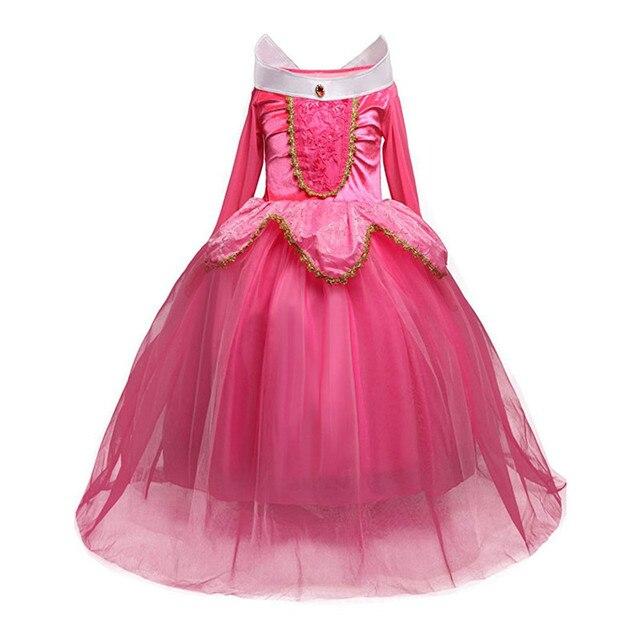 4 10 Years Girls Princess Christmas party Aurora Girl Dress Kids ...