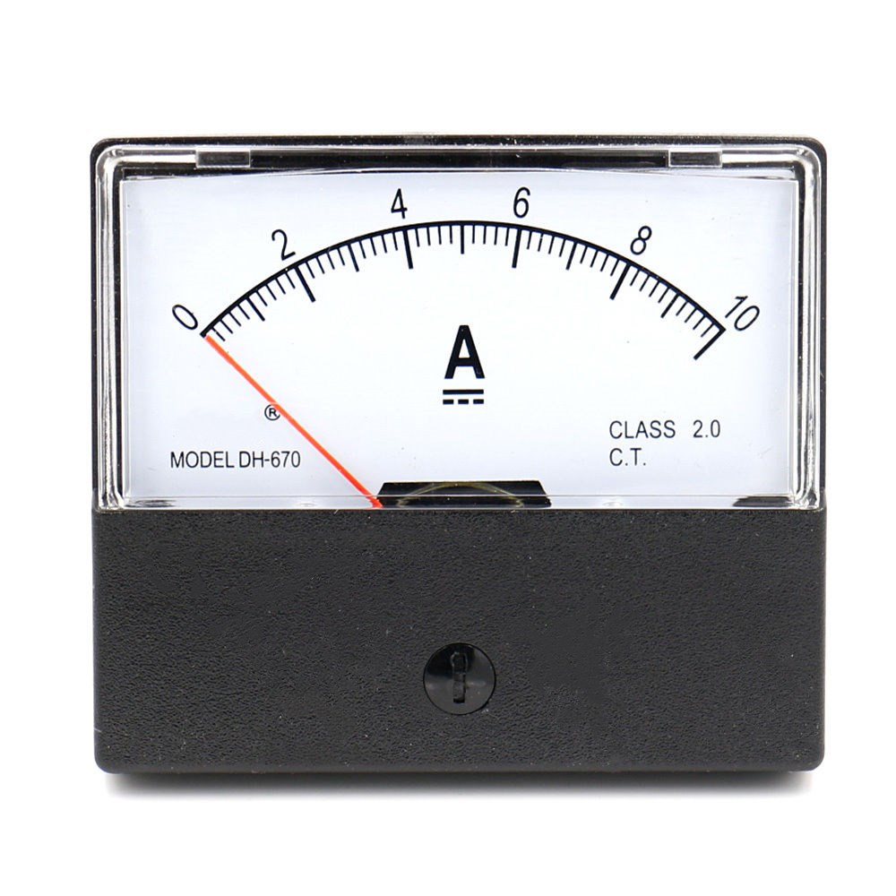 1PCS DH-670 DC 0-10A Analog Amp Panel ammeter pointer type current meter panel