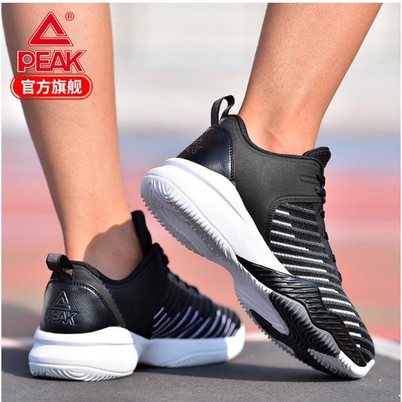 Пик Баскетбол обувь 2018 летние новые ткани, чтобы помочь лицо дышащая одежда сапоги тканые Нескользящие конкуренции обувь мужские туфли