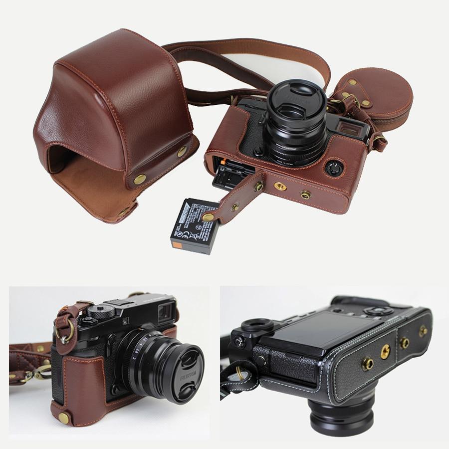 Etui en cuir véritable sac photo pour Fujifilm Fuji X-Pro2 Xpro II XPRO2 housse portable avec ouverture de batterie