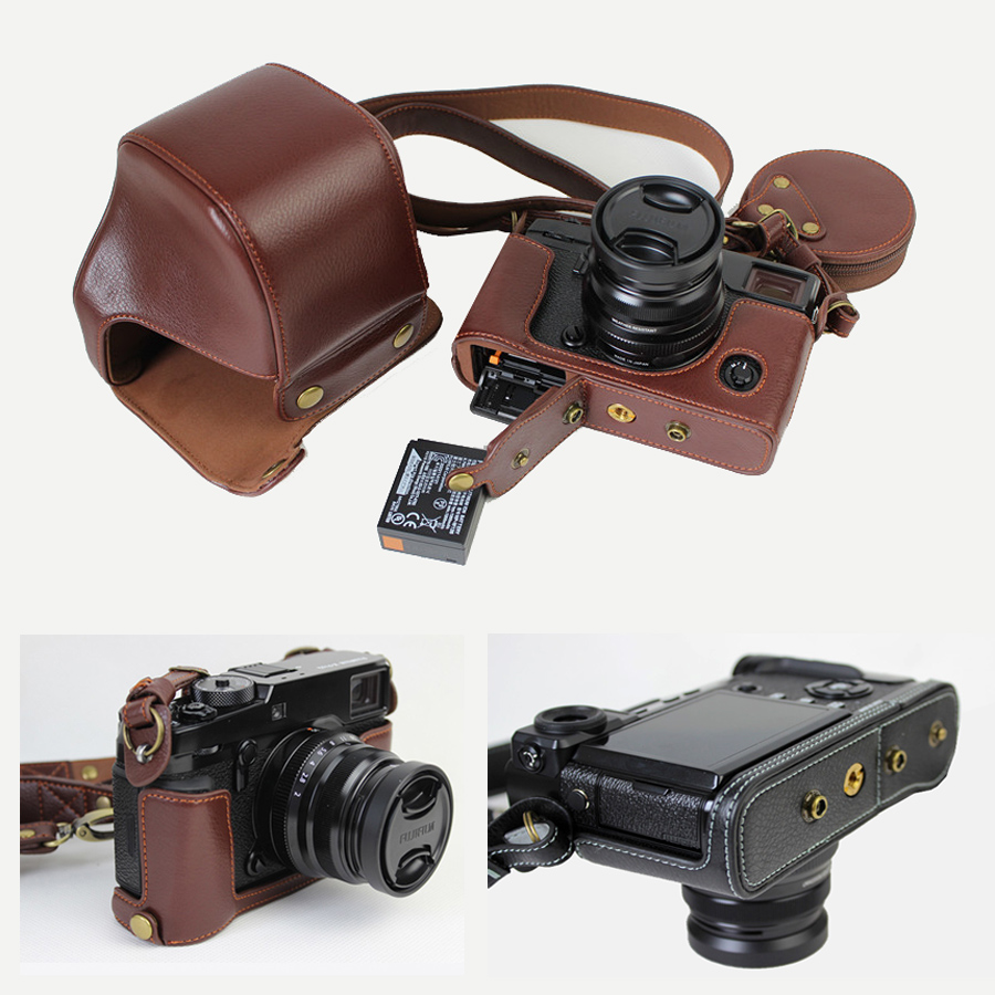 Genuine Leather Case Camera Bag For Fujifilm Fuji X-Pro2 Xpro II XPRO2 portable Cover With Battery Opening fuji fujifilm blc xpro2 оригинальный кожаный черный xpro2 применимо