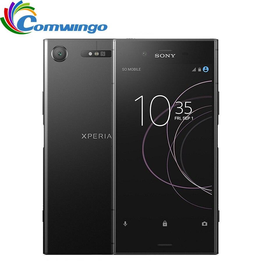 D'origine Sony Xperia XZ1 G8341 64g ROM 4g RAM 19MP Octa Core NFC 2700 mah Unique Sim Android 7.1 Charge rapide 3.0 Téléphone