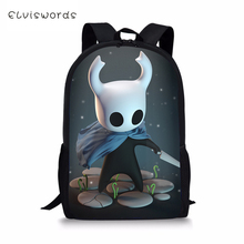 ELVISWORDS Kids School Bags Hollow Night Prints Pattern Cartoon Travel Backpack Fashion Design for Boys
