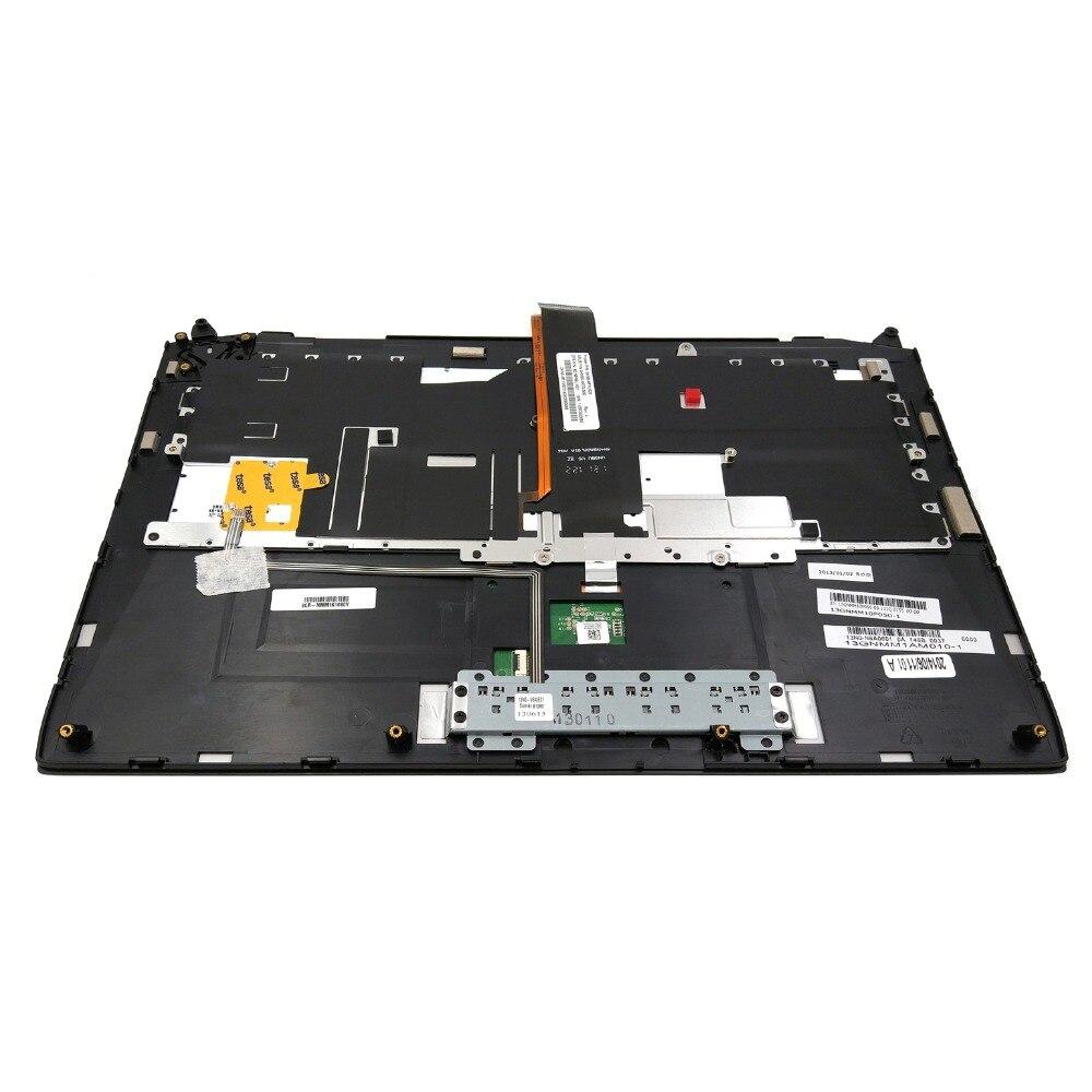 """New Asus ROG G46 G46V G46VW US Backlit Keyboard With Touchpad 14"""" Palmrest Case"""