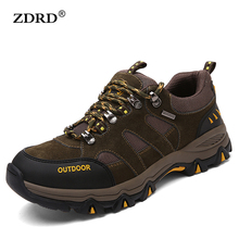 2016 High Quality Brand Outdoor Men Casual Shoes 100% Genuine Leather Men Walking Shoes Breathable Men Shoes Trekking Shoes