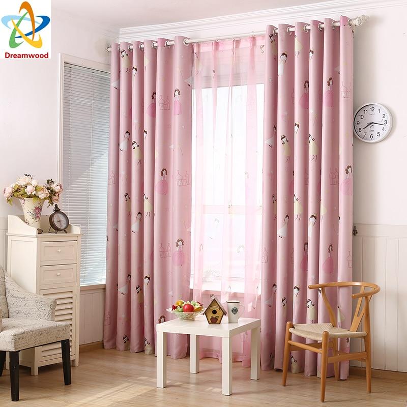Dreamwood Pink Princess Series Záclony pro dívky Ložnice Blackout - Bytový textil