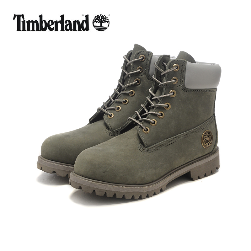 Original TIMBERLAND Grey Women Winter Premium Metal Motorcycle Ankle Boots,Woman Genuine Cow Leather Timber Warm Casual Shoes