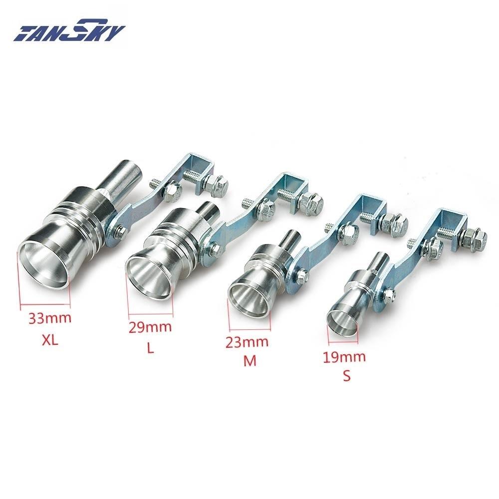 Turbo Sound Pfeife Auspuff Auspuff Ausblasventil Aluminium Silber 11,5 /× 3,5 cm XL