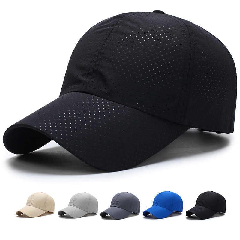 新しい超スリムランニングキャップ速乾性のファブリック夏キャップ女性男性ユニセックス速乾性メッシュ稼働帽子骨通気性帽子