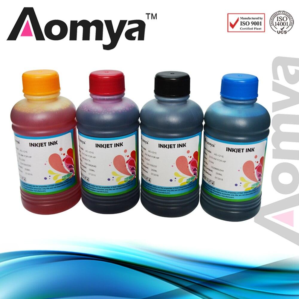 (4 Stks/set) Universele 4 Color Dye Inkt Voor Epson Printers Premium Inkt Bk Cmy Voor Epson All Printer Ciss Inkt