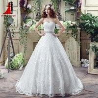 Wedding Dresses Bridal Gown 2018 Dài Ren Belt Crystals Sweetheart A dòng Cộng Với Kích Thước Dress Vestido De Noiva Robe De Mariage 48