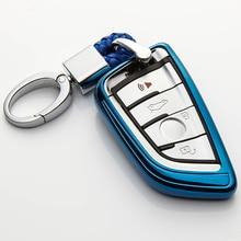 KUKAKEY Car Key Case Cover For BMW F20 F30 X1 X3 X5 X6 E30 E34 E36 E39 E46 E60 E90 Car Styling TPU Protection Key Shell car storage key ring keychain decoration for bmw m emblem e46 e36 e30 e90 e91 e92 e93 f30 e34 f10 e90 f30 e60 f20 e39 x3 x5 x1