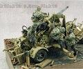 Frete Grátis 1/35 Scale Figura da Resina Alemão 88mm grupo de cinco pessoas para não incluir artilharia arma