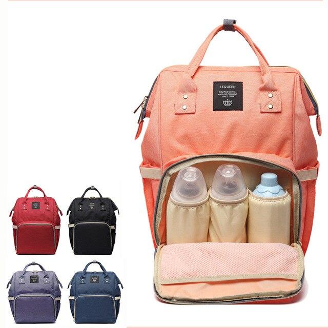 Mutter & Kinder Wickeltaschen Mode Mumie Mutterschaft Windel Tasche Marke Große Kapazität Baby Tasche Reise Rucksack Designer Pflege Tasche Für Baby Pflege