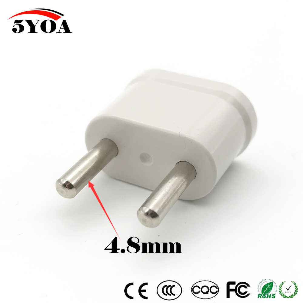 Us Usa Schuko Eu Euro Europa Travel Power Plug Adapter Oplader Converter Voor Usa Converter Wit