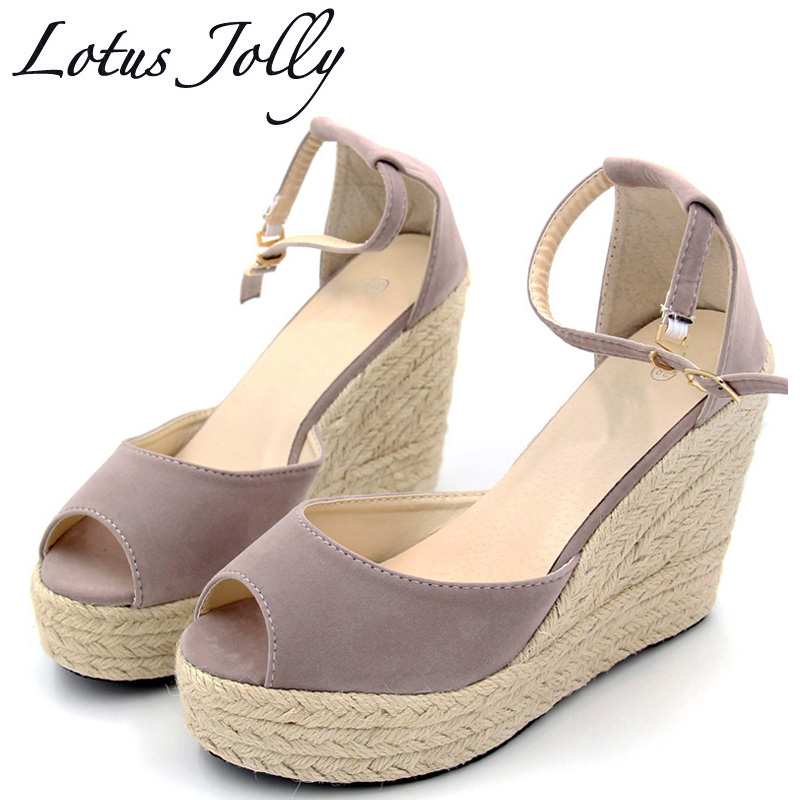 Women Wedge Sandals Espadrilles Comfortable Bohemian Platform Wedges Women Summer Shoes High Platform Flip Flops Plus size 35-44 купить в Москве 2019