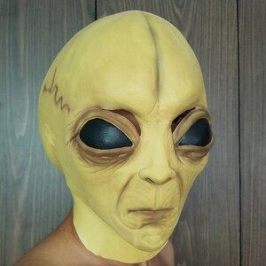 Image 5 - Halloween Latex Masker alien masker Cosplay prestaties props spookhuis spelen