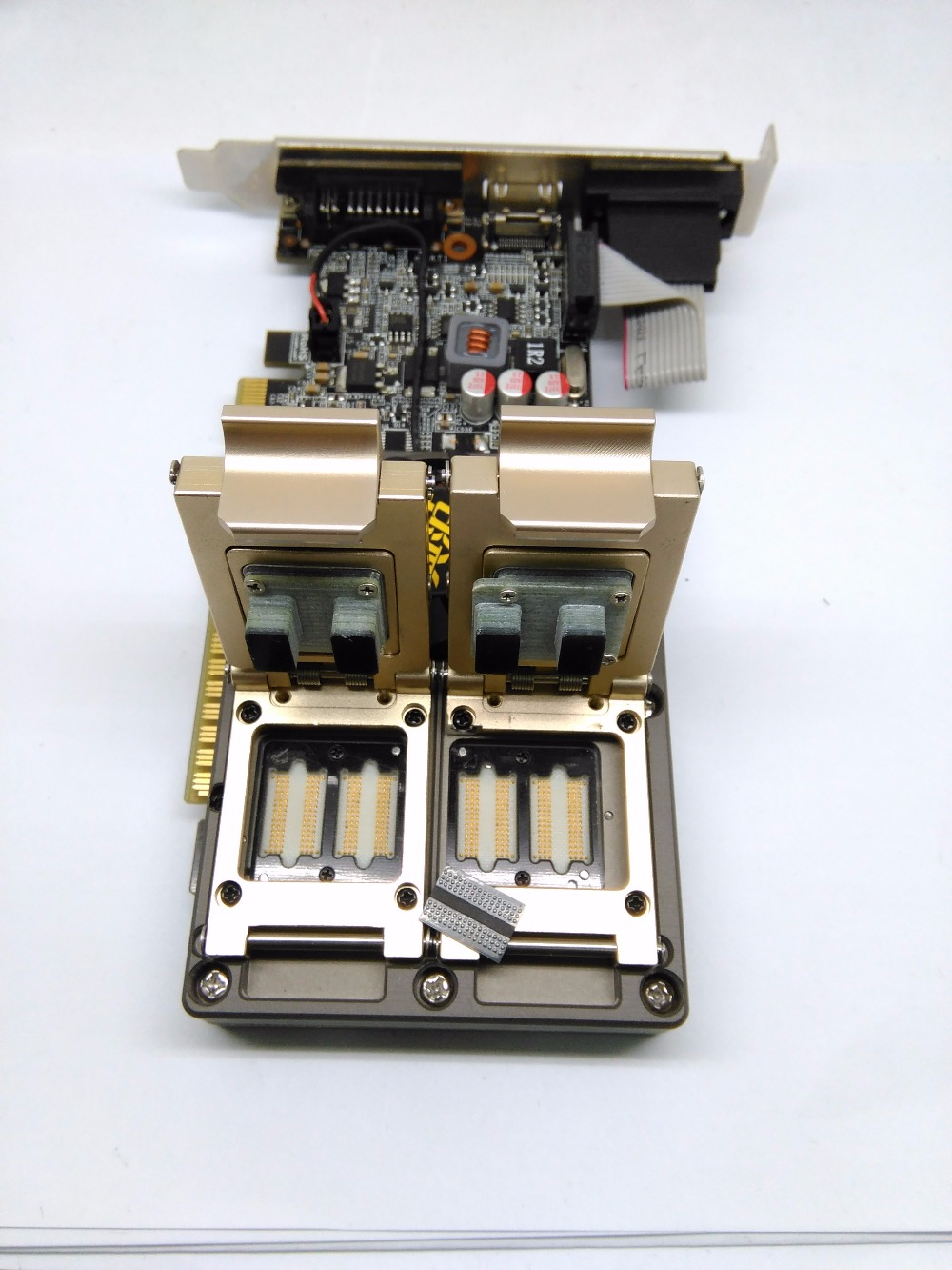 Customized IC test socket GDDR3 Adapter IC Test Socket Analysis Socket double lock clamshell Structure Test socket