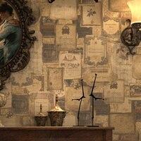 Paysota Американский Стиль стены Бумага Винтаж английский иконки и вина Стандартный Обеденная стены Бумага roll