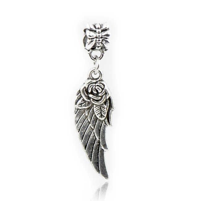 מפואר כוכב חיוך מלאך כנפי חמוד ינשוף שעון עלים קסם חרוזים Fit פנדורה צמידי שרשראות לנשים ביצוע תכשיטי Bijoux