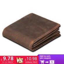 a435527b818d RFID Блокировка мужские кошельки Винтаж корова натуральная кожа кошелек  мужской ручной работы на заказ доллар цена