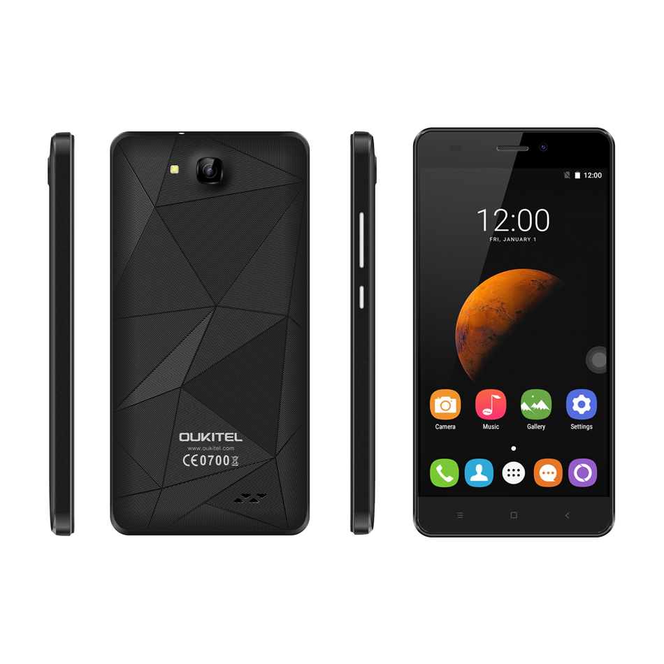 5 0 Oukitel C3 Smartphone 3G Android 6 0 MT6580 Quad Core 1 3Ghz 5 0MP