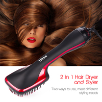 Professional Hair Dryer Brush Multi Function Electric Blow Dryer Brush Hot Air Styling Comb Negative Ion Hair Straightener Brush