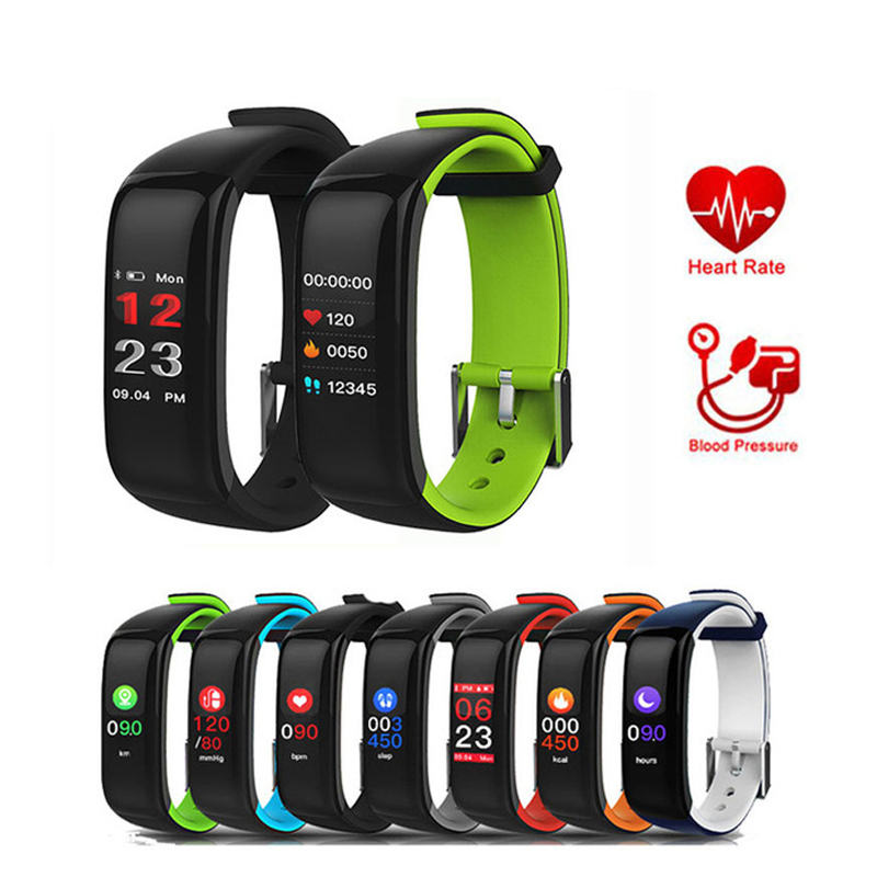 Smart Band Color Display Screen Fitness Bracelet Heart Rate sports Tracker Blood Pressure Monitor Wristband IP67 Waterproof цена 2017