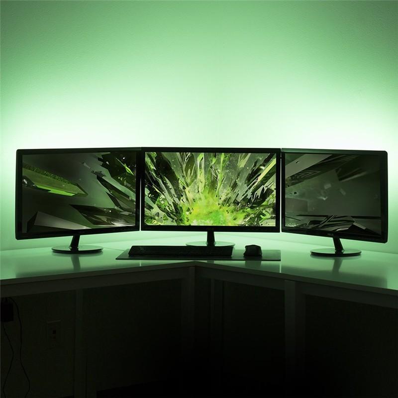 Dc5v Usb Led Strip 5050 Rgb Flexible Light 1m 2m Tv Background