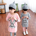 2016  Sequin rabbit children clothing child clothes sets baby girls 2pcs-set kids girl t-shirts & pencil tight pants trousers