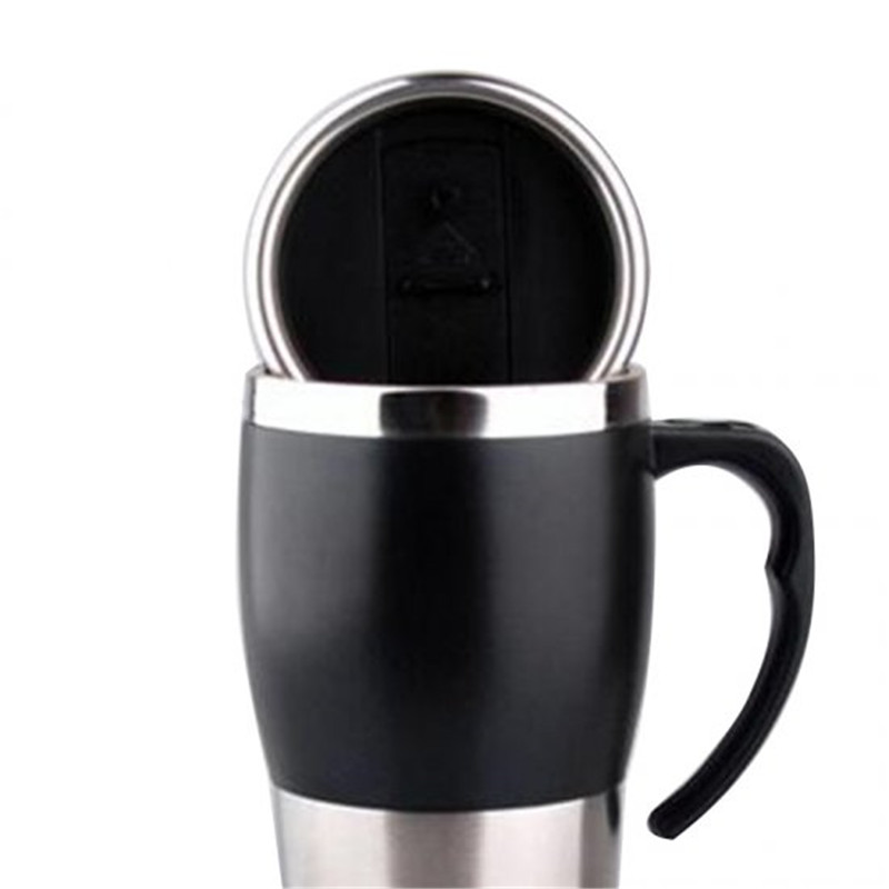 Auto Electric Bottle Portable Car Hot Water Heater Cup Travel Heating Kettle Teapot Stainless Steel Coffee