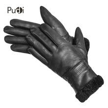 цена на PUDI GL841W women's genuine leather glove real sheep leather real sheep fur inside winter fashion glove