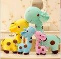 17 cm altura 1 unids 2015 kawaii nueva Fat linda jirafa del bebé de juguete ciervos juguetes de peluche para los niños embroma la decoración del hogar regalo