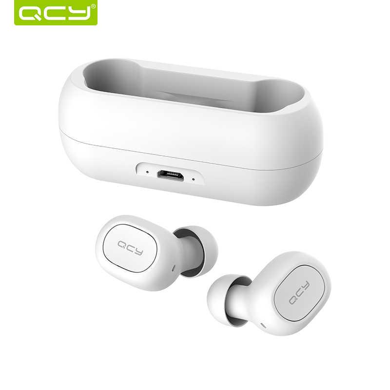 QCY qs1 auricolari Bluetooth 5.0 TWS cuffia mini invisibile 3D HiFi stereo auricolare senza fili con la banca di potere di ricarica scatola/ t1C