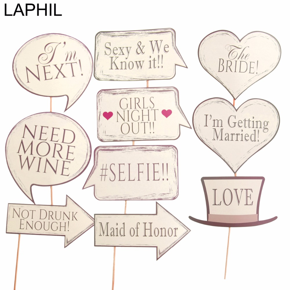 LAPHIL 10pcs Bride To Be Photo Booth Props Vintage Wedding ...
