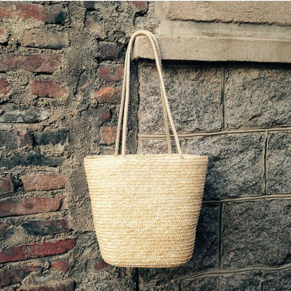 European And American Style Joker Bag Handmade Straw Weaving Shoulder Bag Vintage Mori Girl High Capacity Bag Rattan Handbag wholetide 10 marriage gauze bag bag joker bag silver rose