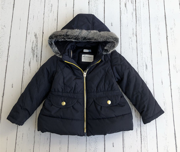 Girls thick warm hooded jacket kids  jacketGirls thick warm hooded jacket kids  jacket